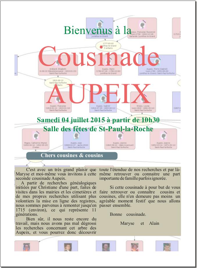 Jujuland Cousinade Aupeix